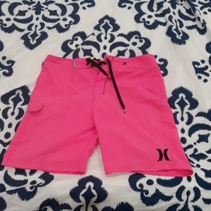 Hurley men's board shorts size 31 pink